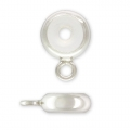 Stopper Bead 7 mm with a hole of 2.5 mm and a Sterling Silver 925 ring x1