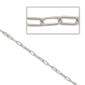 Tin chain rectangle links 2x6 mm rhodium tone x 50 cm