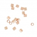 Crimp tube 925 Silver 2x2 mm rose gold plated x50
