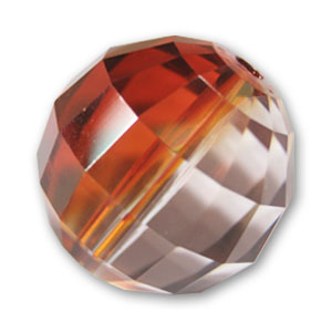 Swarovski 5005 round 8mm Crystal Red Magma x1