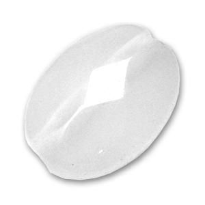 Rock Crystal Oval with facets 14x10mm x1