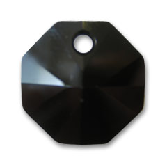 Swarovski Octagon 6401  8mm one hole Jet x1