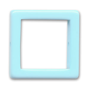 Hollow square 28mm Light Blue x1