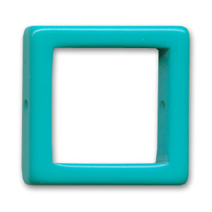 Hollow square 28mm Dark Turquoise x1