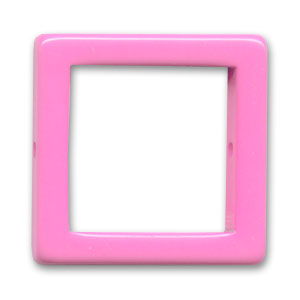 Hollow square 28mm Hot Pink x1