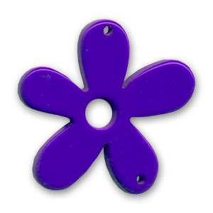 Flower spacer 58mm Purple x1