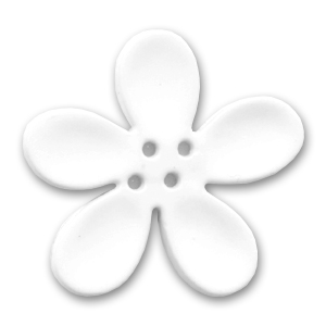 Orchid Button 20mm White x1