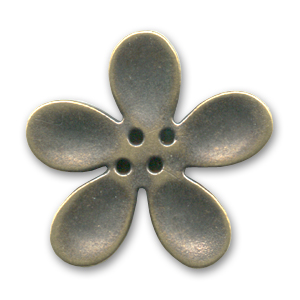 Orchid Button 40mm Bronze tone x1