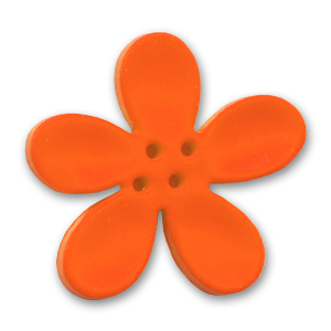 Orchid Button 40mm Orange x1