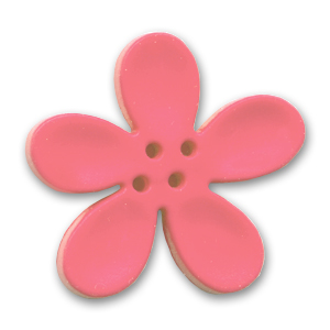 Orchid Button 30mm Pink x1