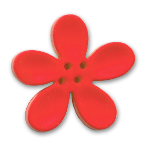 Orchid Button 40mm Red x1