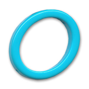Hollow olive 34x28mm Dark Turquoise x1