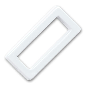Hollow rectangle 38x18mm White x1