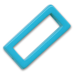 Hollow rectangle 38x18mm Dark Turquoise x1