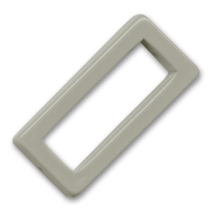 Hollow rectangle 38x18mm Grey x1