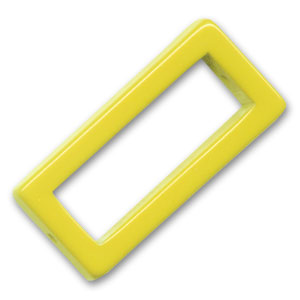 Hollow rectangle 38x18mm Yellow x1