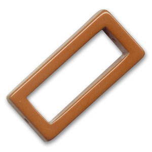 Hollow rectangle 38x18mm Brown x1