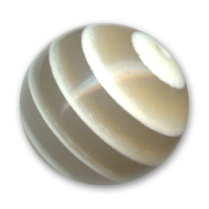 Round bead natural effect 20mm Light Koron x1