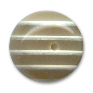 Flat round bead natural effect 16mm Light Koron x1