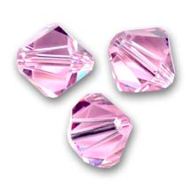Swarovski Crystal Bicones 4mm Light Rose  x50