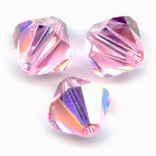 Swarovski Crystal Bicones 4mm Light Rose AB  x50