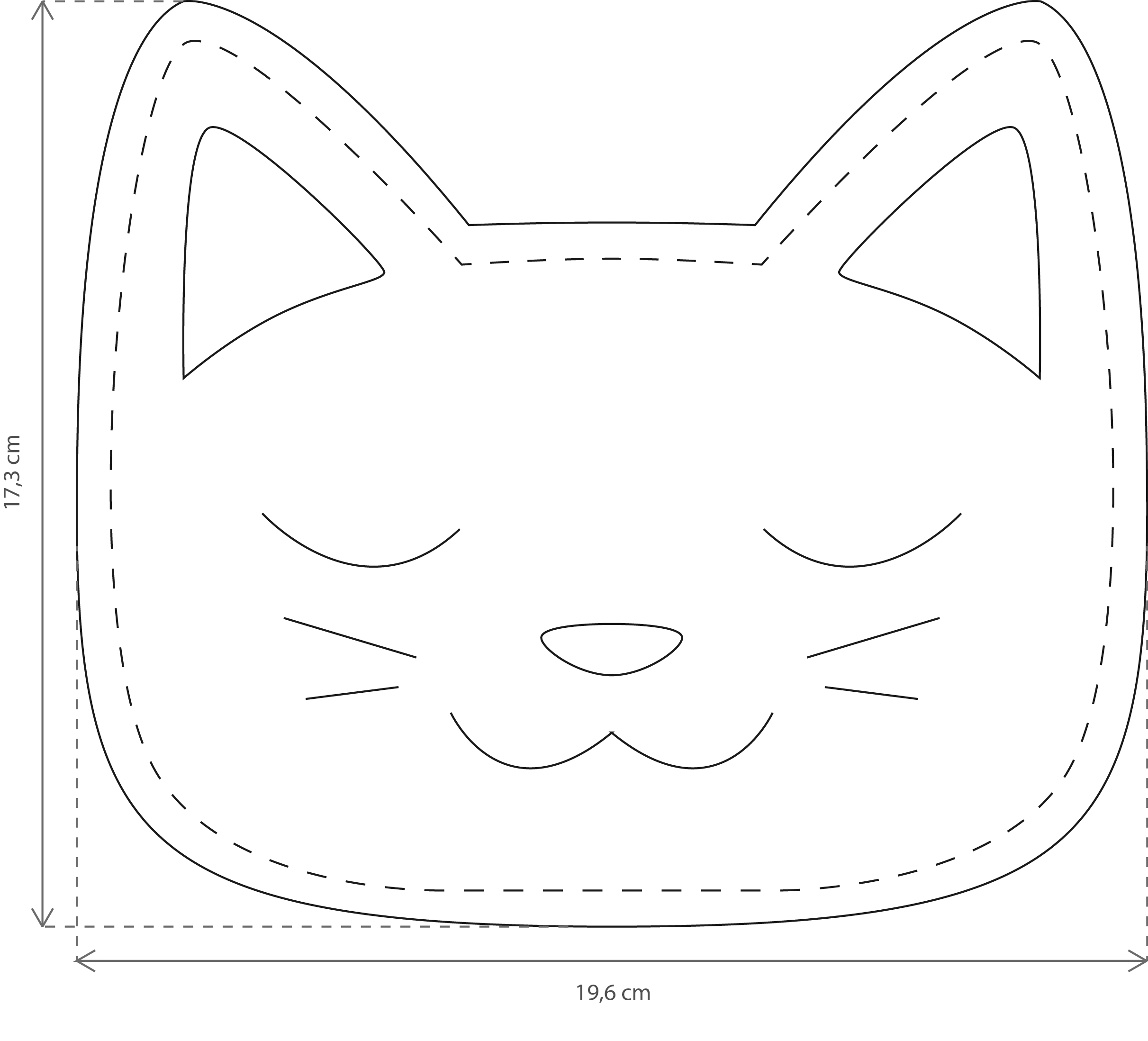 Cat shapped Dry Hot-water bottle with cherry stones - Perles & Co